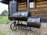 Reverseflow smoker grill with or without curing estabilishment