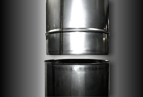 Edelstahl schornstein einsatz 160 mm m for Mobelgriffe edelstahl 160 mm