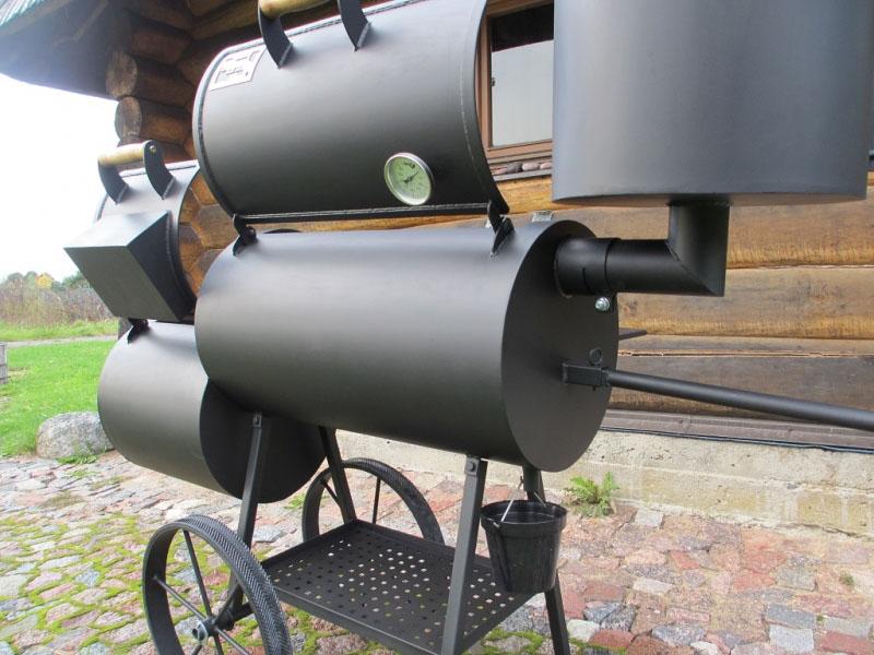 grill smoker 16 6 2 mm mit r ucherkamin. Black Bedroom Furniture Sets. Home Design Ideas