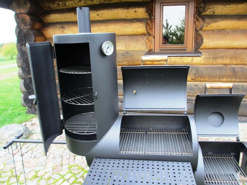 grill smoker 16 kombi mit r ucherturm 6 2 mm. Black Bedroom Furniture Sets. Home Design Ideas