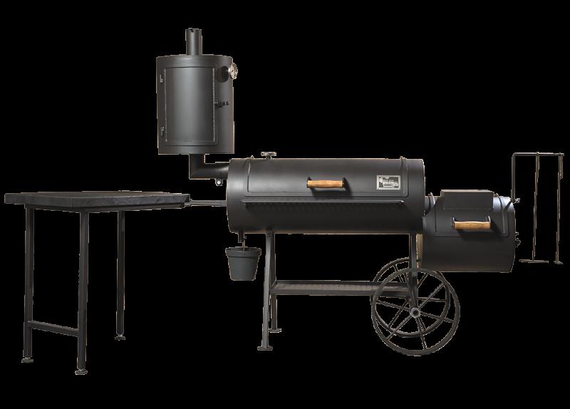 grill smoker 16 long 8 mm mit raucherkamin. Black Bedroom Furniture Sets. Home Design Ideas