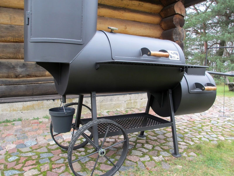 grill smoker 20 xl kombi mit r ucherturm 6 2 mm. Black Bedroom Furniture Sets. Home Design Ideas
