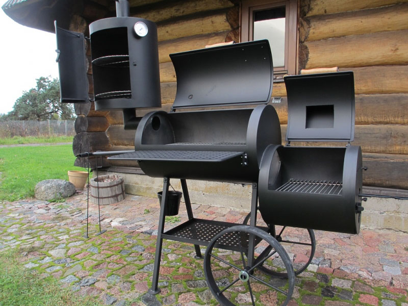 smoker grill 16 8 mm mit r ucherkamin. Black Bedroom Furniture Sets. Home Design Ideas