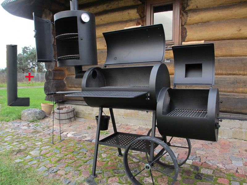 universelle smoker grill 16 4 mm mit r ucherkamin. Black Bedroom Furniture Sets. Home Design Ideas