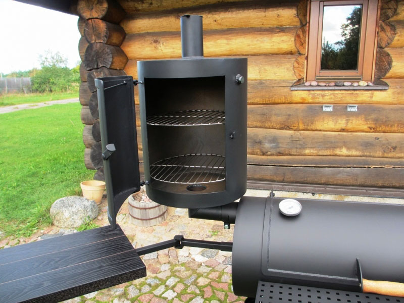 universal grill smoker 16 4mm with smokehouse. Black Bedroom Furniture Sets. Home Design Ideas