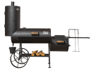 Grill Smoker 16 Long Kombi with smoke tower / 6,2 mm