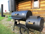 Nette Lette Smokers with chimney & vertical smoke chamber (smokehouse)
